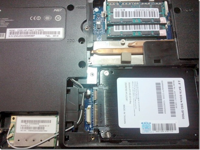 给三星P467笔记本换固态硬盘-让旧电脑瞬间成为超级本
