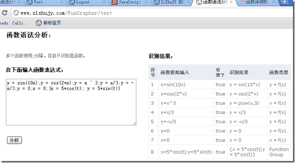 在线函数语法分析工具