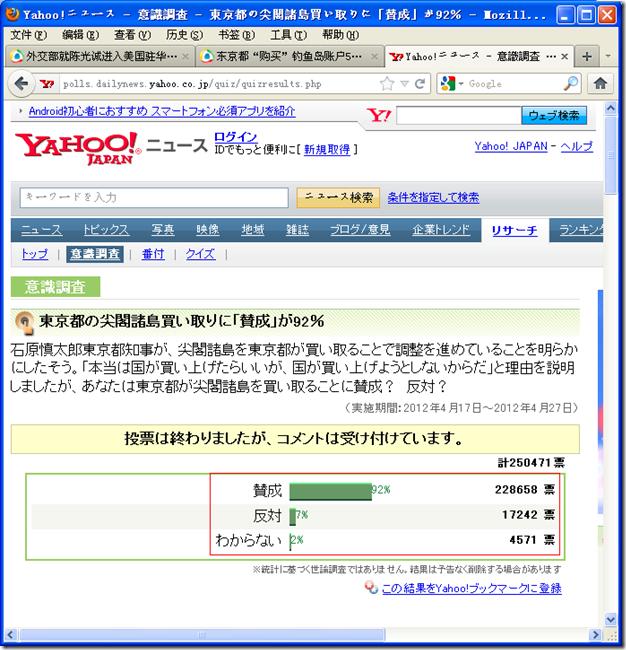 """日本""""购买""""钓鱼岛调查投票"""
