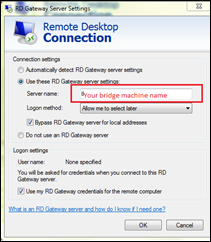How to directly connect to a security server from local PC