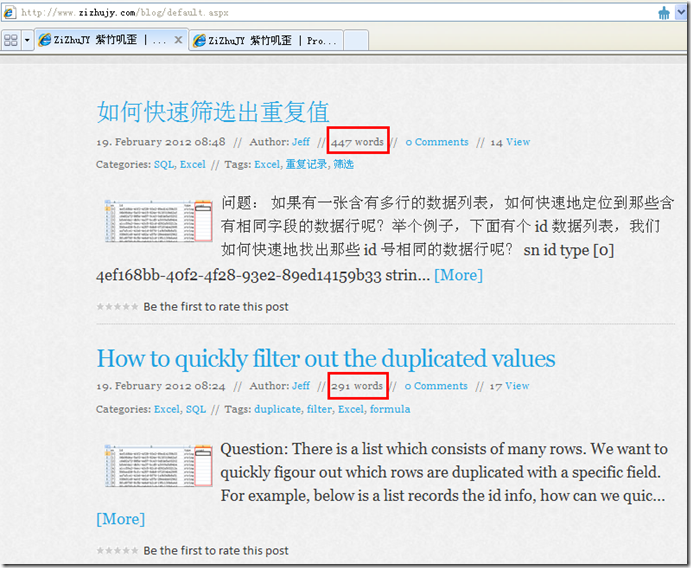 The better word count extension for BlogEngine.NET