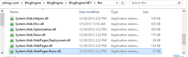 "Make sure these dll files exist in the ""bin"" folder under BlogEngine.NET web root."