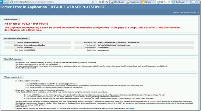 HTTP Error 404.3 - Not Found error on hosting WCF service