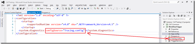 Resolved: Unable to open configSource file when debugging a program