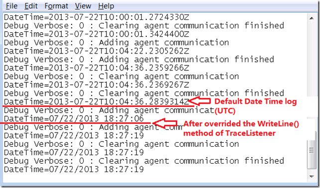 How to make tracing log local system date time in tracing (C#)