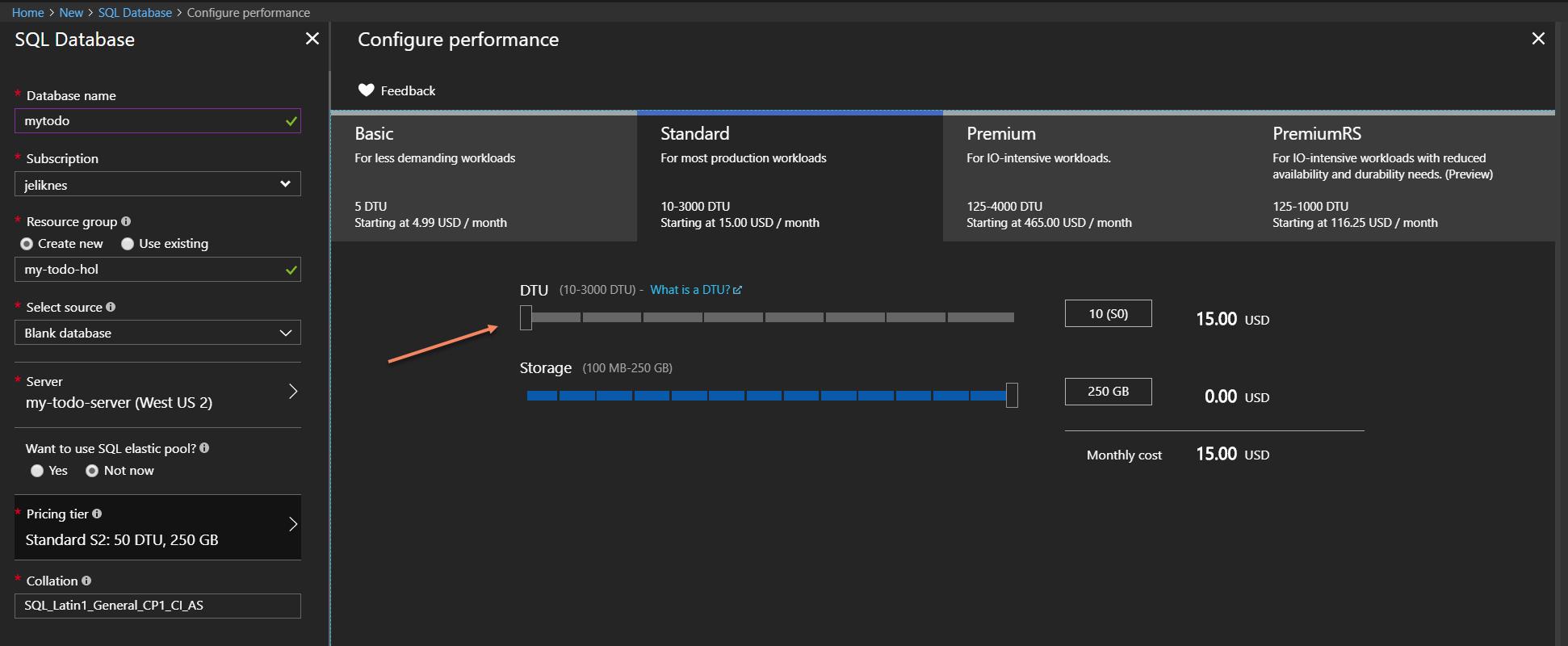 Configure performance