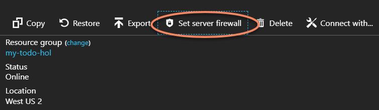 Set Server Firewall