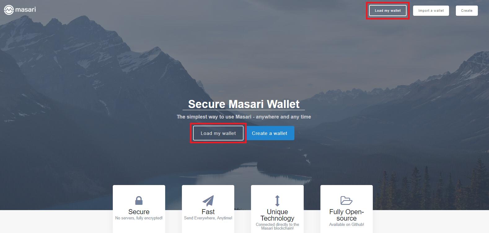 load wallet