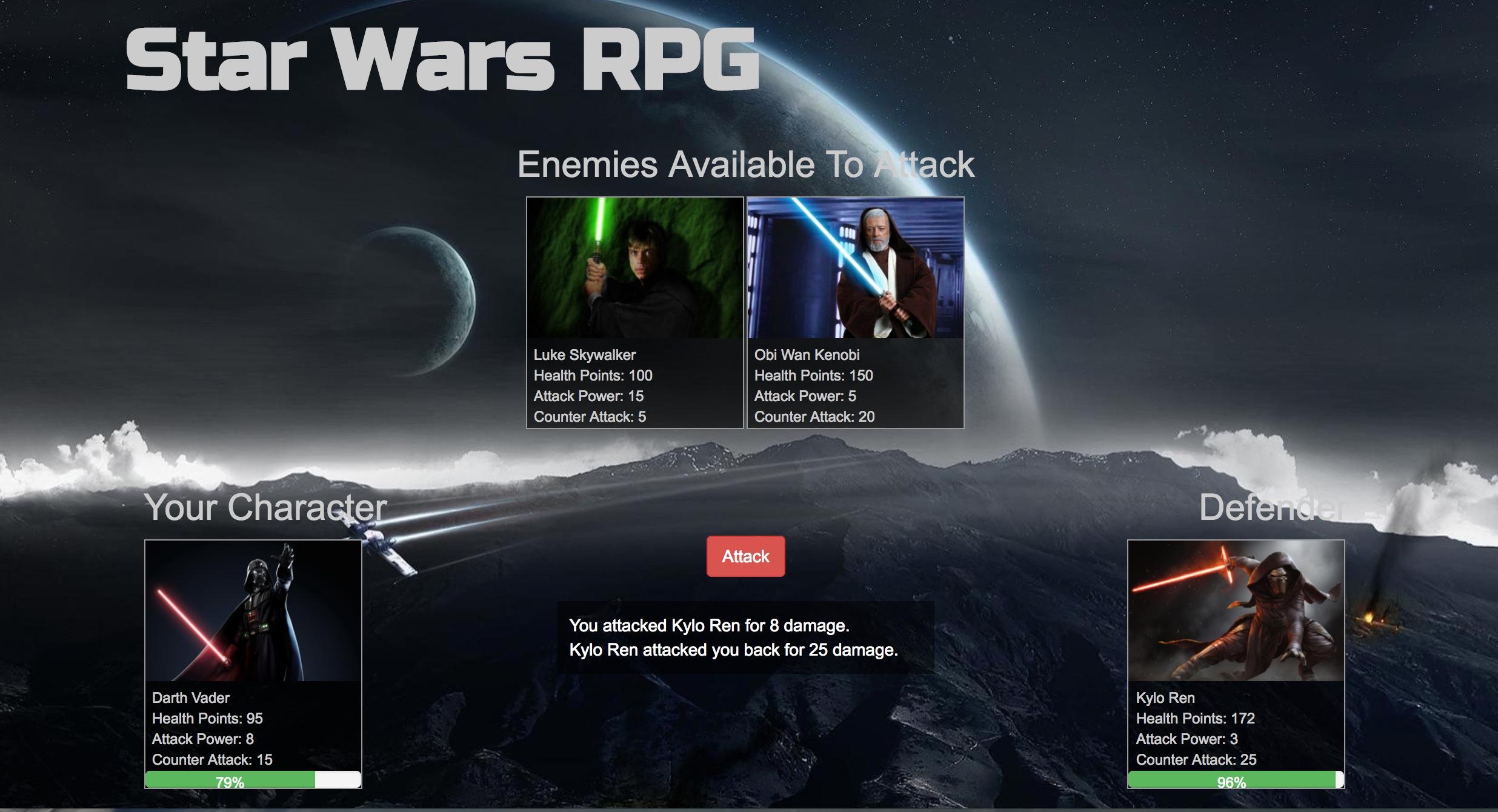 Playing Star Wars RPG