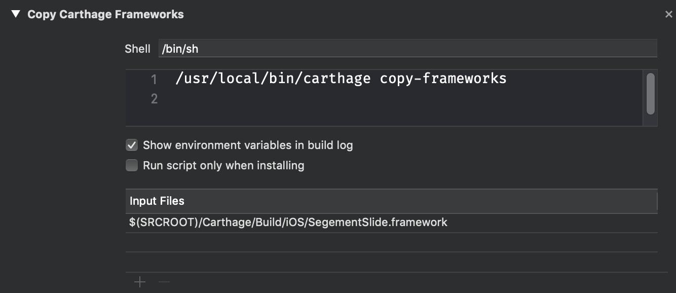 Copy Carthage Frameworks