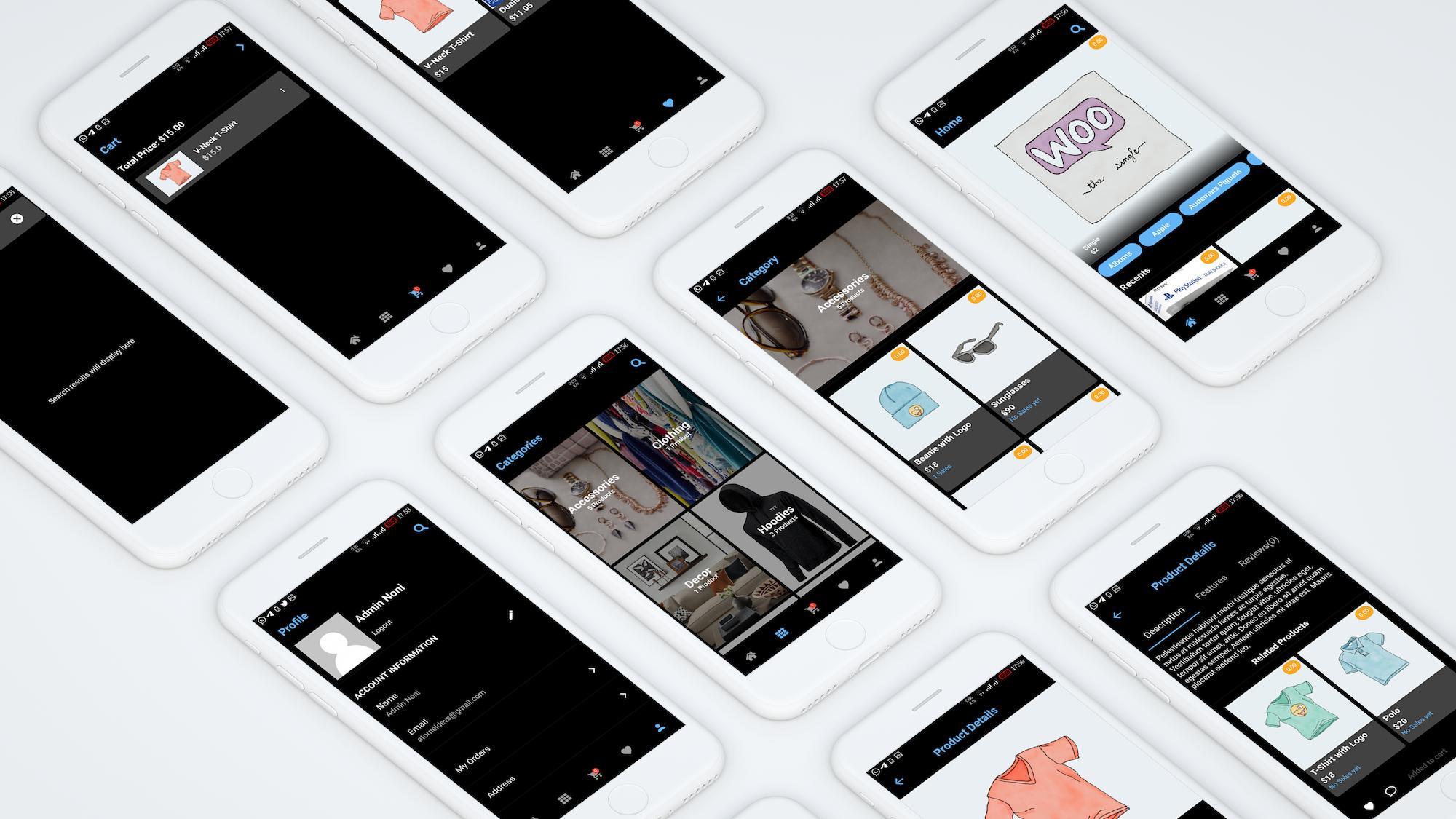Flutter WooCommerce app - 2