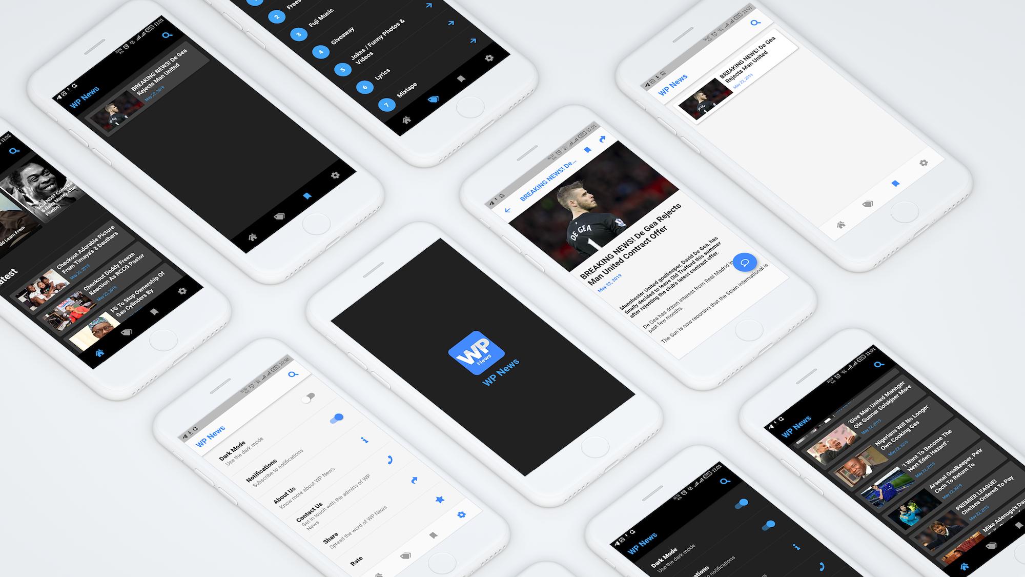 Flutter WordPress News app - 1