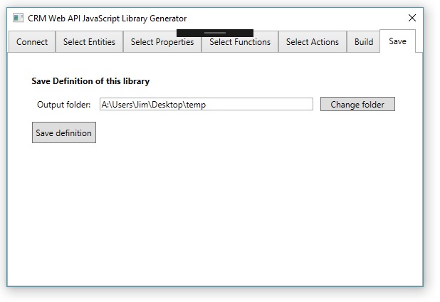 JimDaly/CRMJSWebAPIServiceUtil A WPF application which generates a