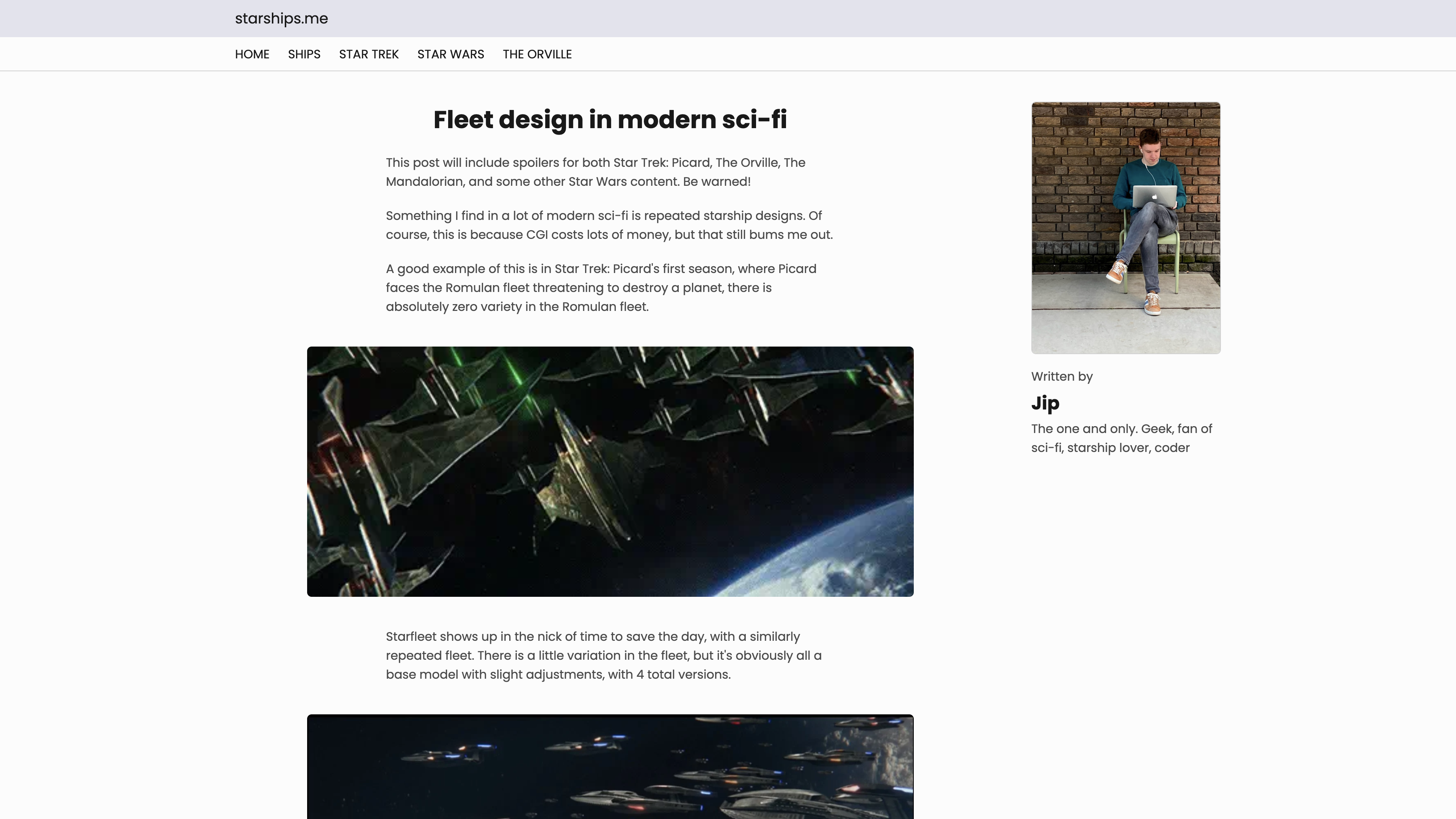 Starships blog page: 'fleet design in modern sci-fi'