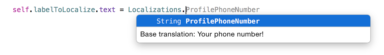 Image : Xcode help for variables