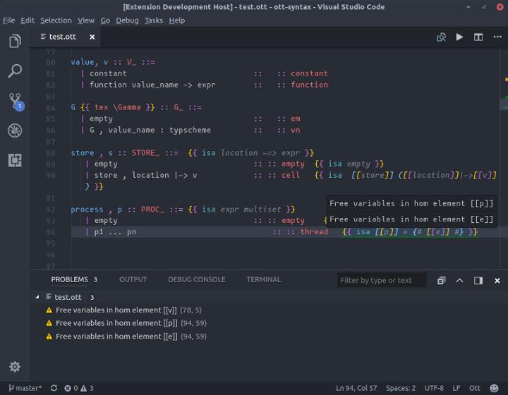 Screenshot of Ott Extension