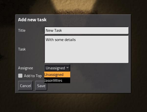 add task