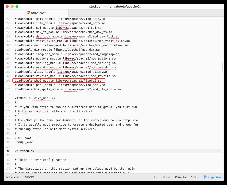 开启PHP环境