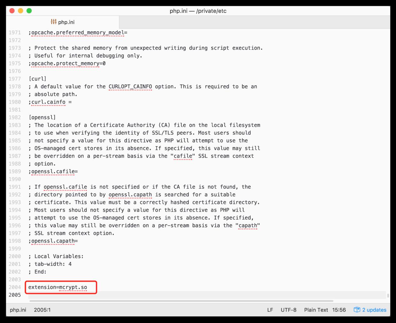 修改 php.ini 文件