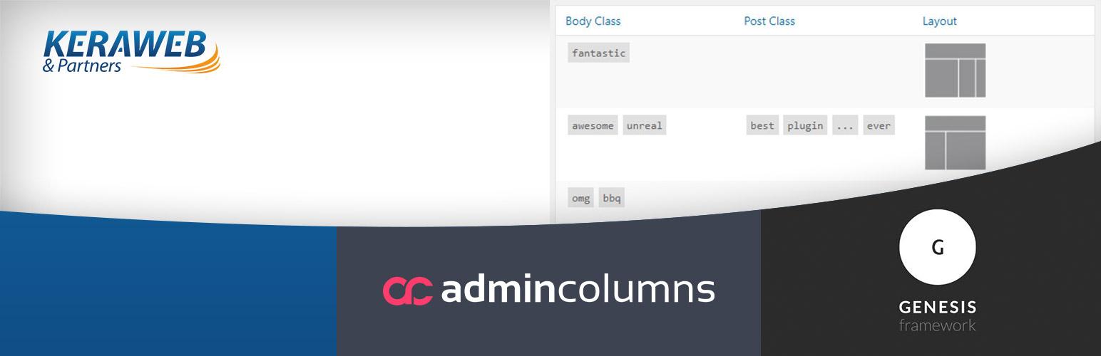 Admin Columns - Genesis Framework add-on