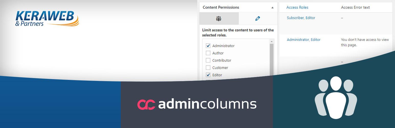 Admin Columns - Members add-on