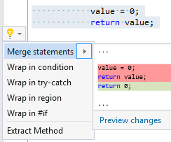 Merge assignment expression with return statement