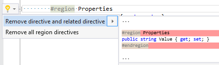 Remove directive and related directives