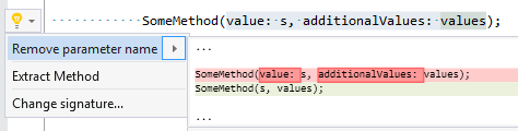 Remove parameter name from argument