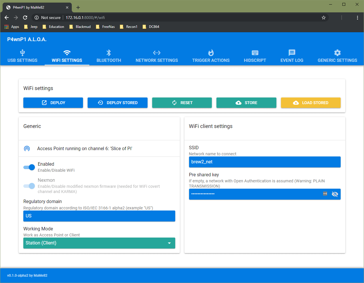p4wnp1 wifi client