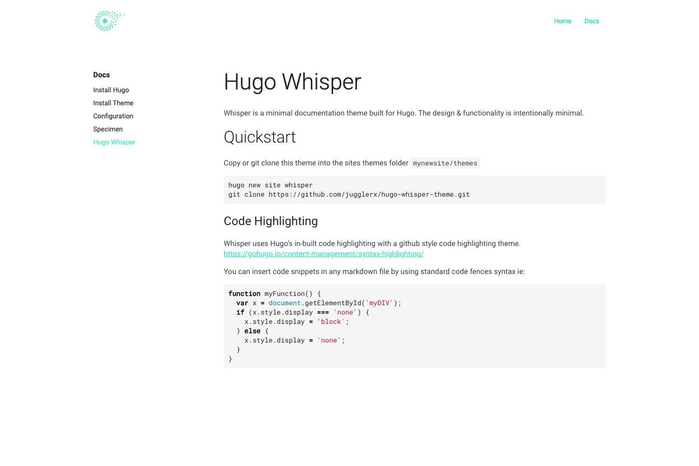 Hugo Whisper Thumbnail