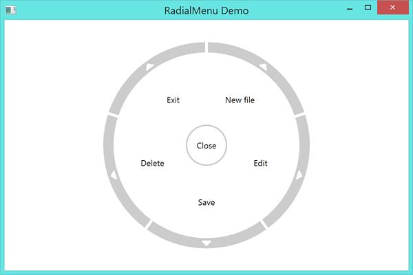 RadialMenu Example