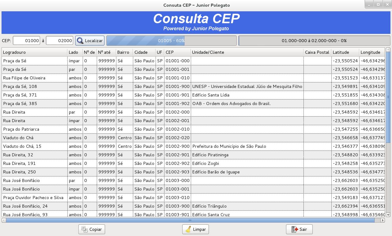 Api publica e gratuita para consulta de informa es de cep for Consul python api