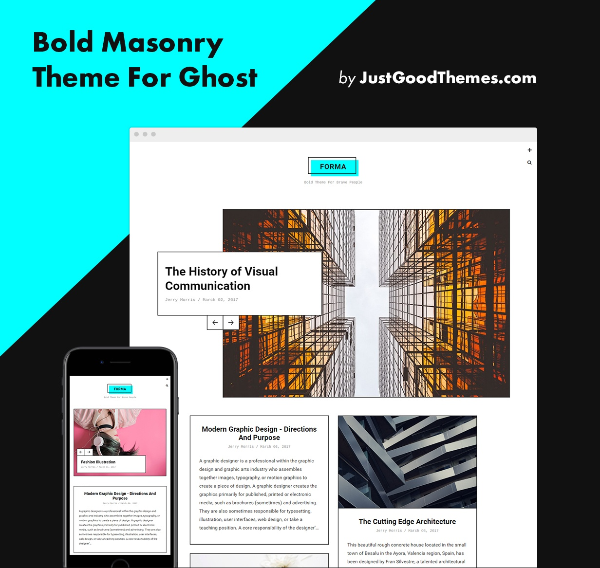 Forma - Bold Masonry Theme For Ghost