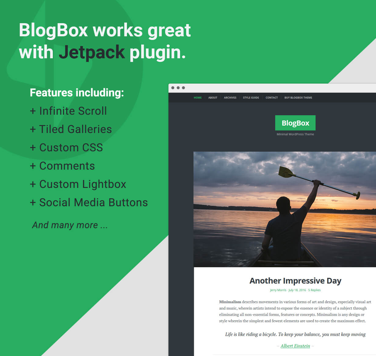 BlogBox - Supports JetPack Plugin
