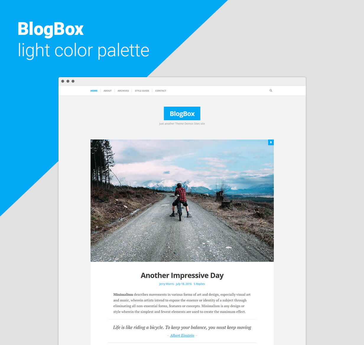 BlogBox - Responsive WordPress Theme