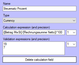 calculation field template