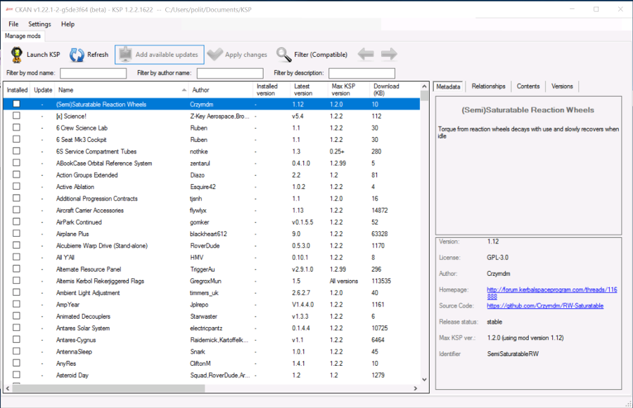 CKAN v1.22.1 main screen