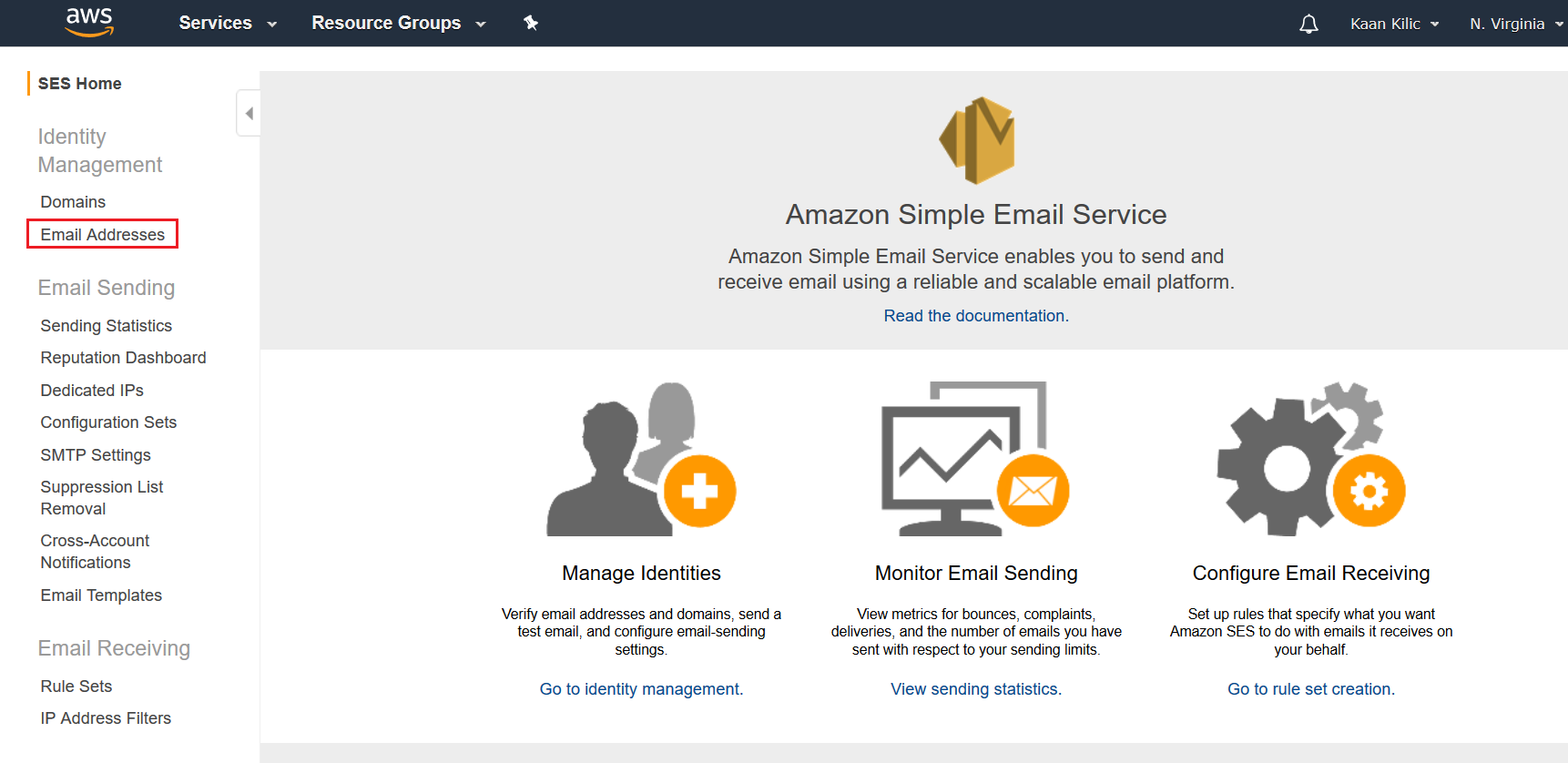 AWS SES Landing Page