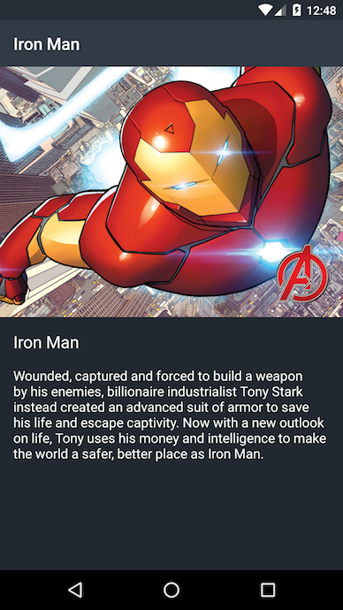 SuperHeroDetailActivityScreenshot