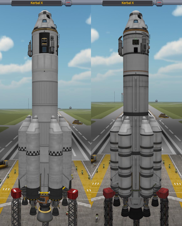 Left: stock; Right: revamped