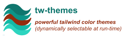 powerful tailwind color themes (dynamically selectable at run-time)