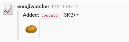 Screenshot of a new :potato: emoji