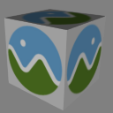Cube mesh with single texture