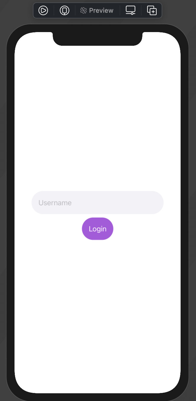 LoginView preview