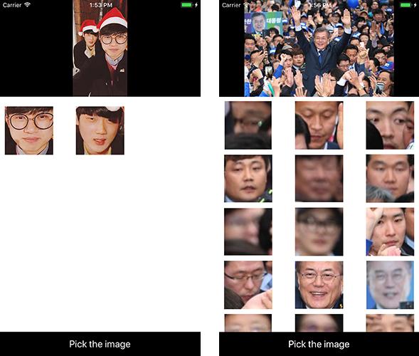 Example app screenshot