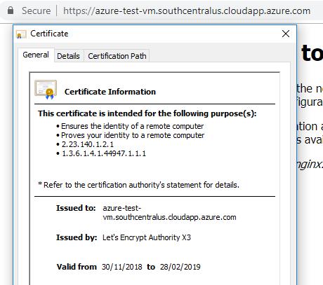 Setup HTTPS with Nginx on Azure Ubuntu VM