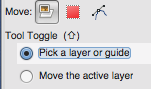 pick layer or guide