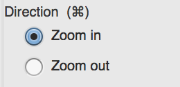 zoom options