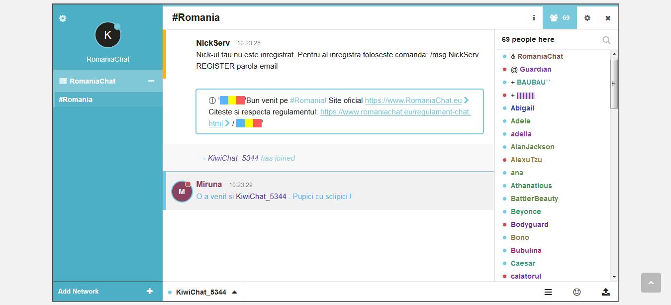 Capture KiwiChat Online Chat