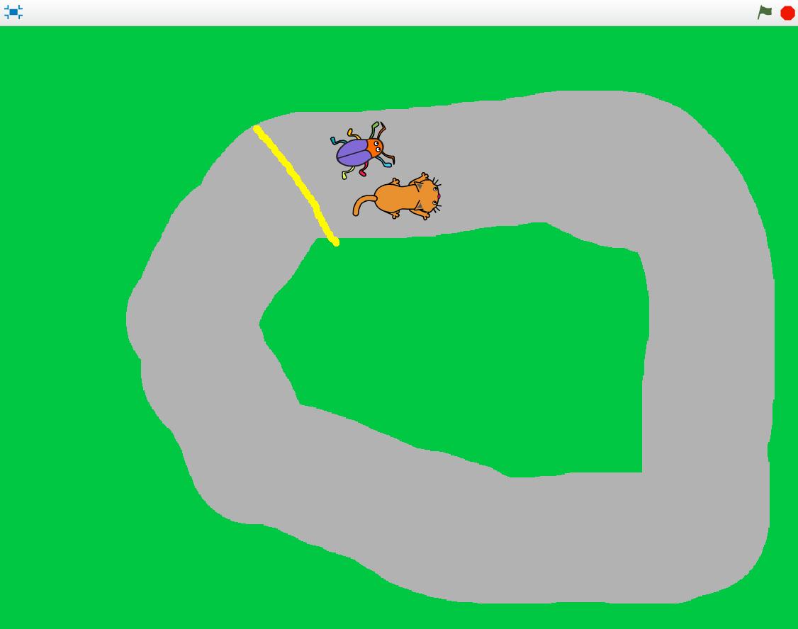 Bug race med två spelare
